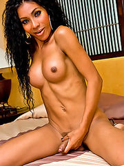 Pretty tranny Sony goes for a hot cock teasing play