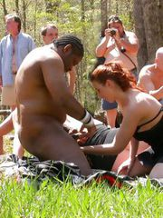 A HUGE OUTDOOR PUBLIC ORGY