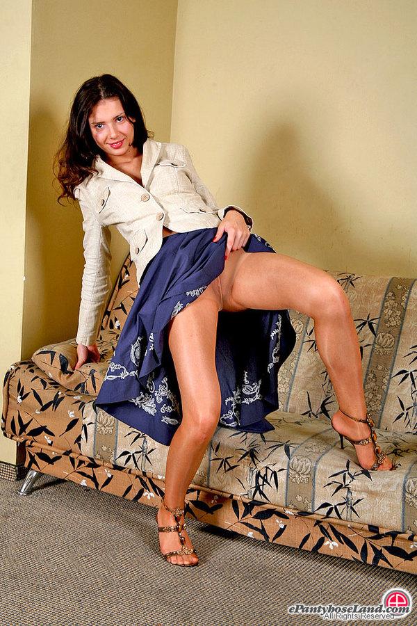 секс в телесных колготках фото