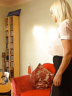 AGEDLOVE  Slim and sexy blonde mature lady granny hardcore sex