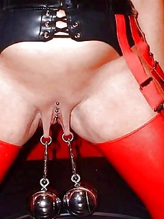 extreme pierced slaves with pussy weights