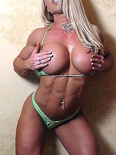weibliche Bodybuilder - Der eigene Krper - Poppende