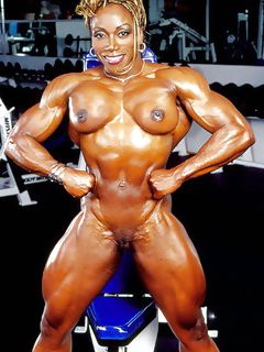 muscular female porn It seems there's disproportionately more muscular males in porn .