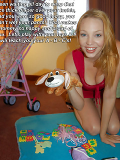 ABDL Mommy on video infantilism and diaper punishment pics captions
