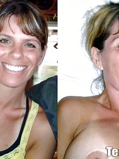 Before and after cum shot
