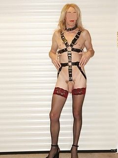 RachelSexyMaid in Full Leather Slave Harness