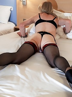 RachelSexyMaid in hotel lingerie shoot