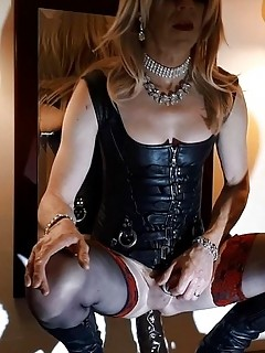 14 RachelSexyMaid on Tour in Tokyo Leather Dildo Session