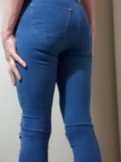 21 RachelSexyMaid Blue Jeans White Dress